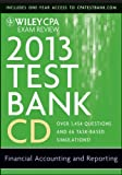 img - for Wiley CPA Exam Review 2013 Test Bank CD, Financial Accounting and Reporting by Whittington O. Ray (2012-12-03) CD-ROM book / textbook / text book