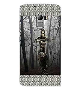 PrintDhaba Armed Girl D-4596 Back Case Cover for LENOVO K4 NOTE A7010a48 (Multi-Coloured)