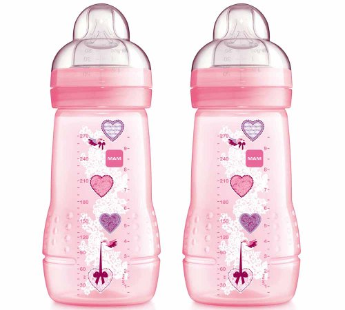 Mam 270Ml Baby Bottle (Pink, Pack Of 2) front-613661
