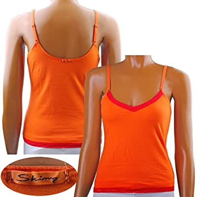 Skiny Essentials Lace Women Spaghettishirt Orange 2-er Pack
