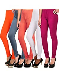 Pack Of 5 Cotton Lycra Leggings