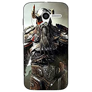 Jugaaduu God of War Back Cover Case For Moto X (1st Gen)