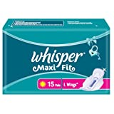 Whisper Maxi Fit - 15 Pads (L Wings)