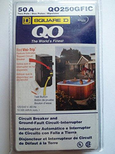 Square D Qo250Gfic 50Amp Circuit Breaker