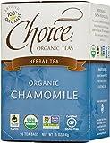 Choice Organic Chamomile Herb Tea, 16 Count Box