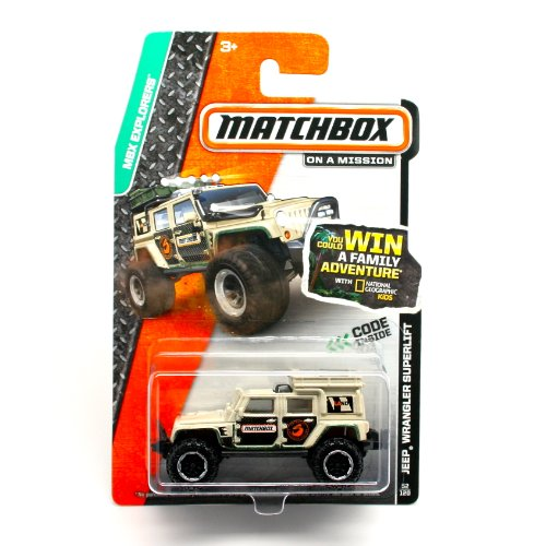 JEEP WRANGLER SUPERLIFT (WHITE) * 2014 MBX EXPLORERS * Matchbox 1:64 Scale Basic Die-Cast Vehicle (#52 of 120) - 1