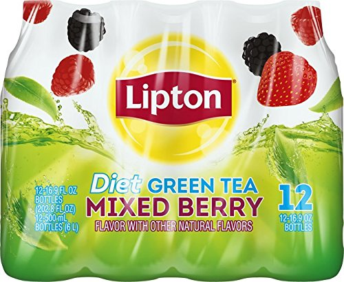 Lipton diet green tea mixed berry 12 count 16 9 fl oz for Mixed drinks with green tea