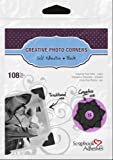 Scrapbook Adhesives by 3L Self-Adhesive Paper Photo Corners, Black, 108-Pack