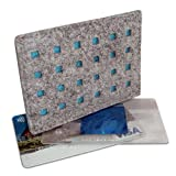 DataSafe Eco-friendly RFID Shielding Identity-theft Protection Credit Card Holder (heather-gray/turquoise)