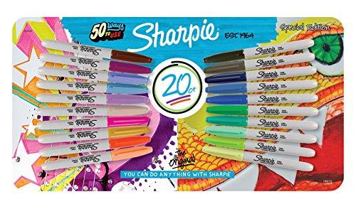 sharpie-special-edition-pennarelli-indelebili-a-punta-fine-12-pz-colori-assortiti-confezione-da-20