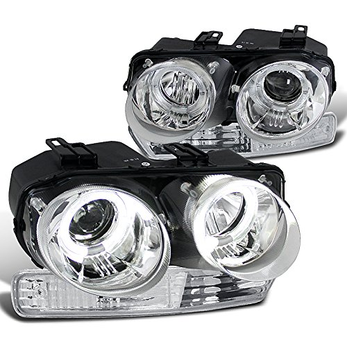 Acura Integra Rs Ls Gs, Chrome Halo Projector Headlights, Chrome Bumper Lights (Halo Headlights Integra compare prices)