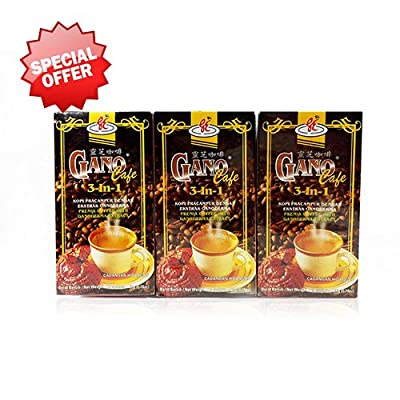 3 Boxes Gano Cafe 3-in-1 By Gano Excel USA Inc. - 60 Sachets from Gano Excel