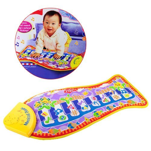 SHEENROAD Baby Piano Music Fish Animal Mat Touch Kick Play Fun Toy Gift