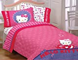 Hello Kitty Girls Twin/Full Comforter & Full Sheet Set (4 Piece Bedding)