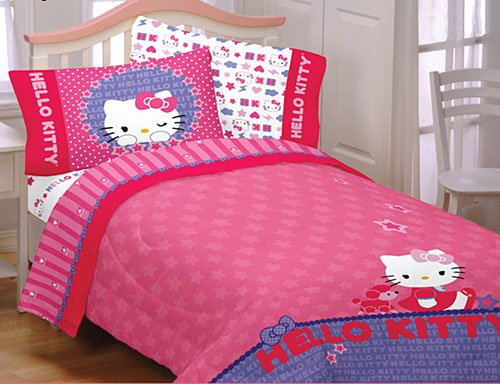 Hello Kitty Sheet Set: Twin