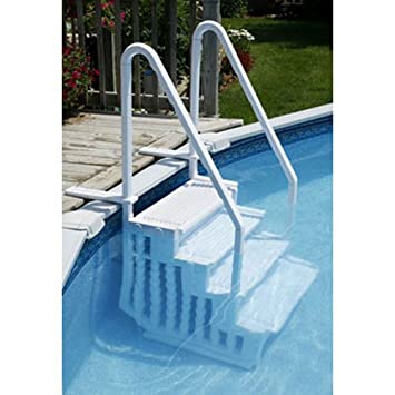 Stairs for above ground pool for Above ground pool decks and ladders