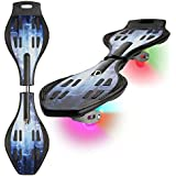 Caster Board with Illuminating Wheels for Added Fun and Visibility, High Quality, Durable Wave Board, 60-Day Money Back Guarantee, Xino Sports Twistboard