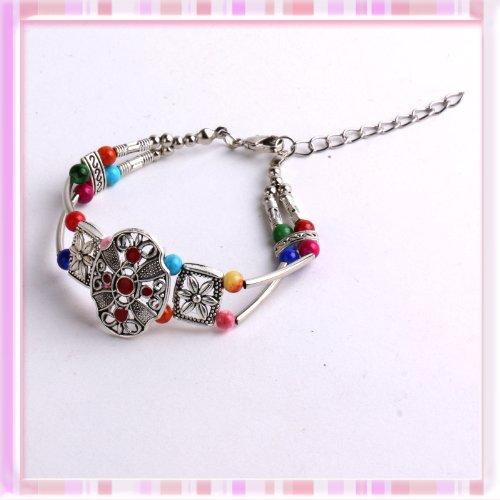 Elegant Pink Blue Earrings Plastic Star Shape Ear Pin 1 pair P1181