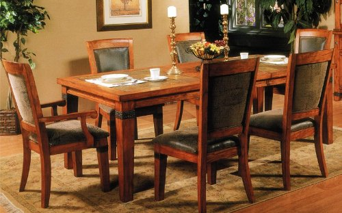 Buy Low Price Alpine Furniture Pcs Formal Dining Table And Chairs - Dining table with slate inlay
