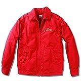 (ビルバン)BILLVAN ジャケット 50'sオールドスタイル高密度サテン生地 スウィングトップ チェーン刺繍 ビルバン ドリズラージャケット メンズ アメカジ 38(M) レッド