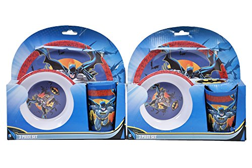 DC Comics Batman 3 Piece Dinner Set (2 Sets)
