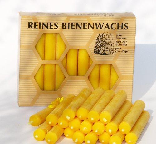 BAUMKERZEN aus 100% Imker BIENENWACHS - 20 Christbaum Kerzen aus der Schwarzwälder Kerzenmanufaktur. Höhe 10 cm thumbnail