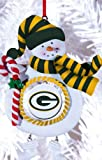 Green Bay Packers Jolly Christmas Snowman Ornament