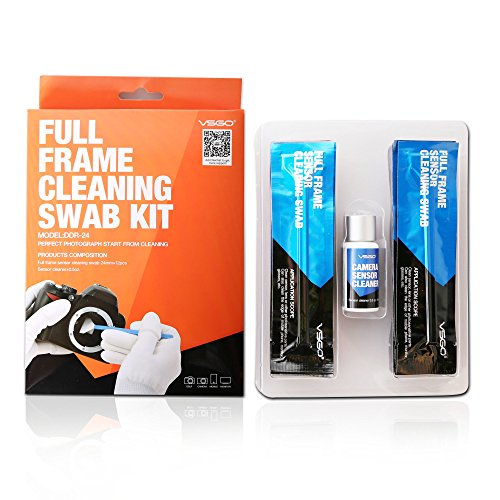UES Full Frame (CCD/CMOS) Digital Camera Sensor Cleaning Swab DDR-24 Type 3 Kit (Box of 12 X 24mm Swab + 15ml Sensor Cleaner) (Full Frame Digital compare prices)