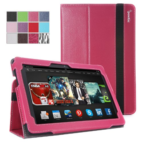 Best  Poetic SlimBook Case for New Kindle Fire HDX 8.9 inch (2013) Hot Pink (3 Year Manufacturer Warranty From Poetic)