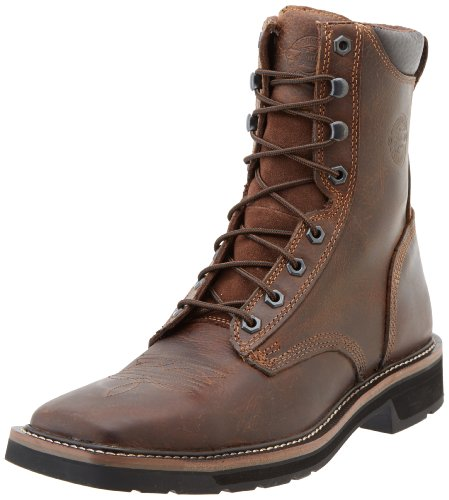 Justin Original Work Boots Men's Worker Two Safetytoe Work Boot,Rugged Tan,7 D US