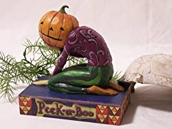Jim Shore - Heartwood Creek - Pumpkin Head Peek a Boo by Enesco - 4005339