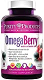 Purity Products - OmegaBerry Fish Oil with Vitamin D3 & Organic Acai - 60 Soft Gels - 30 Day Supply