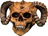 XL Demon Skull - Realistic Menacing Voodoo Ram Horned Evil Type Skull Replica; Removable Covered Candy Dish, Stash Box & Container, Home Statue - Figurine, Gifts & Decor by Nose Desserts