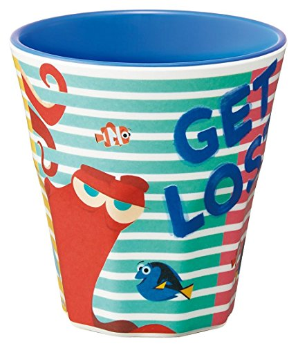 Japan Disney Official Finding Dory - Get Lost Says Hank the Giant Octopus Cute Turquoise Tumbler with Ocean Blue Rim Fancy Water Cup Comic Style Wonderful Gift Dinnerware SKATER (Charlie Brown Cake Pan compare prices)