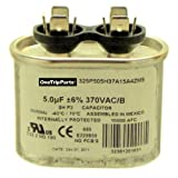CAPACITOR 5 MFD 370 VAC OVAL ONETRIP PARTS® DIRECT REPLACEMENT FOR TRANE AMERICAN STANDARD OEM PART CPT00072
