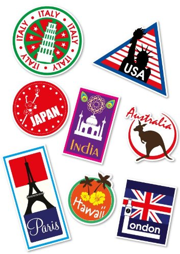 supertogether-world-travel-locations-suitcase-stickers-set-of-8-multi-coloured