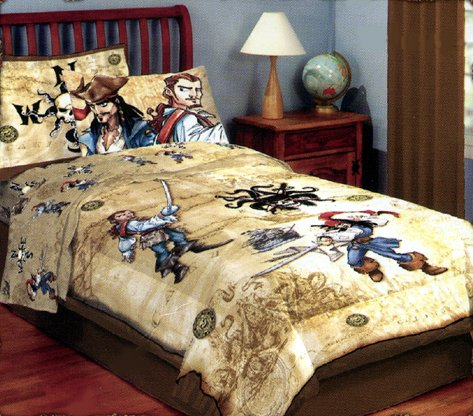 Disney's Pirates of the Caribbean 'Dead Man's Chest' Twin Comforter & Sheet Set