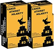 Cakes Athirst Hilarity – Four Pack (Volume 1, 2, 3, 4) – Unofficial Expansion Pack – Adult Party…