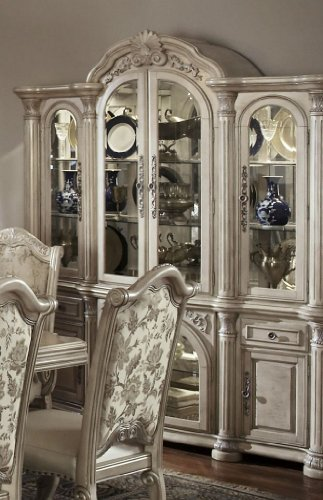 Picture of Aico Furniture China Cabinet  - Silver Pearl (N53005R-03R) (N53005R-03R) (China Cabinets)