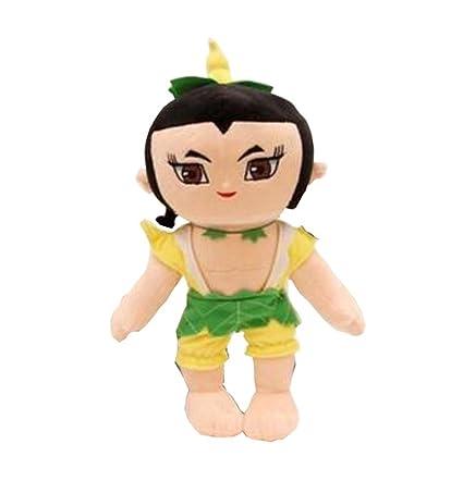 Mignon bonnet de gourde Pluh-marionnettes Poupée de poupée créative - Jaune