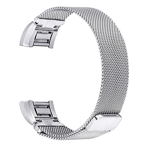 bayite-Replacement-Bands-for-Fitbit-Charge-2-Stainless-Steel-Milanese-Metal-Large-Small