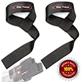 Lifting Straps By Rip Toned *On Sale* Bonus Ebook - Lifetime Warranty - Pair of Cotton Padded Weightlifting Wrist Straps for Men or Women
