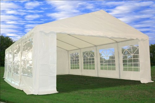 26'x16' Heavy Duty Wedding Party Tent Canopy Carport white