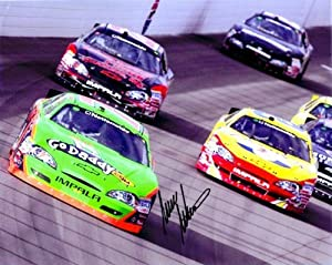 2010 Mark Martin #5 GoDaddy.com 8X10 SIGNED by Trackside Autographs
