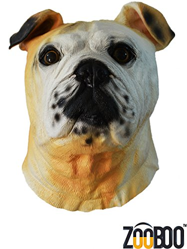 ZooBoo The Bull Dog full head Mask Halloween Costume