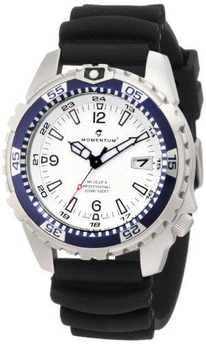 Momentum M1 Deep 6 1M-DV06W1B - Reloj analógico de cuarzo para hombre, correa de goma color negro