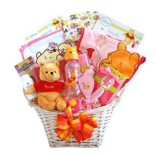 California Delicious Winnie The Pooh Baby Girl Basket - 1