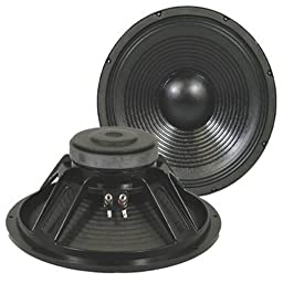 Podium Pro PP152 15-Inch 1400 Watts Deluxe Pro Audio DJ PA Karaoke Band Replacement Subwoofer Pair