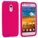 Hot Pink Silicone Rubber Gel Soft Skin Case Cover for Samsung Epic Touch 4G Sprint Galaxy S2 S II