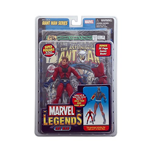 Marvel Legends Exclusive Series Action Figure Ant Man with Giant Man Builder Piece (Marvel Legends Toy Biz compare prices)